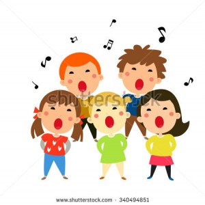stock-vector-children-singing-christmas-carols-vector-illustration-340494851